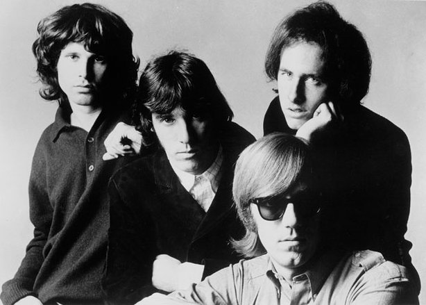 (l-r): Jim Morrison, John Densmore, Robby Krieger, Ray Manzarek of The Doors