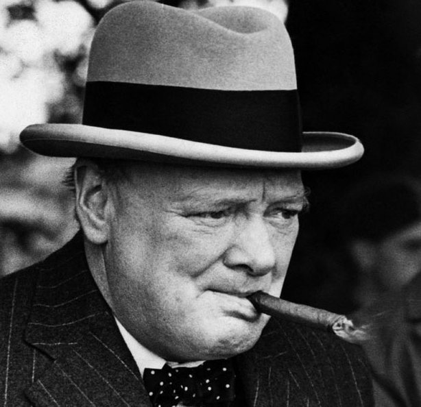 A photograph of Winston Churchill when he was First Lord of the Admirality, 1939.