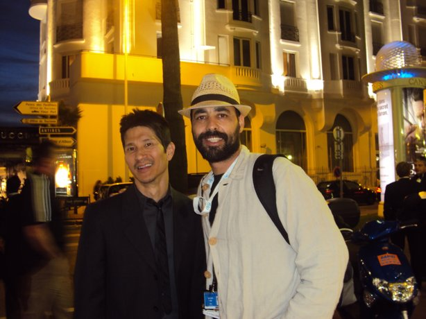 Filmmaker Greg Araki with our guest blogger and filmmaker Giancarlo Ruiz.