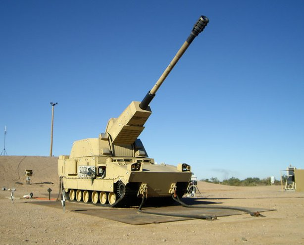N-LOS (non-line-of-sight) cannon; Yuma Proving Ground, Arizona.