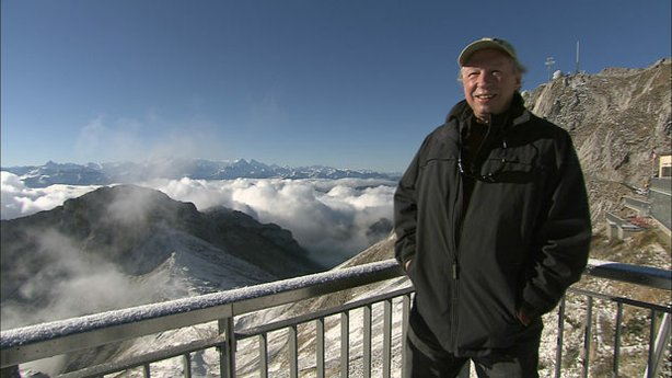 Richard Bangs stands at Mt. Pilatus in Switzerland.