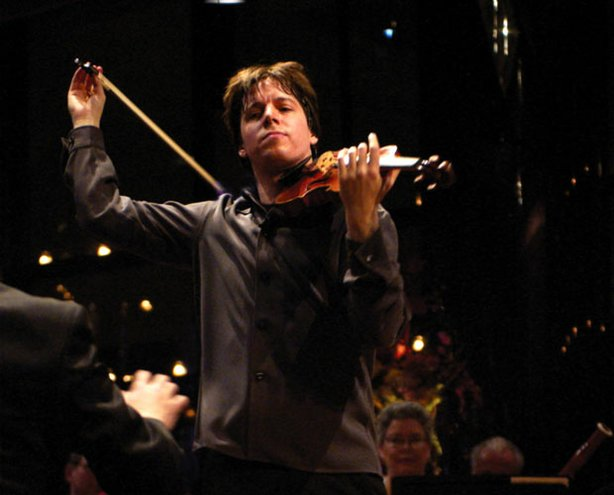 Celebrated violinist Joshua Bell performs in the intimate Stanley H. Kaplan Penthouse.