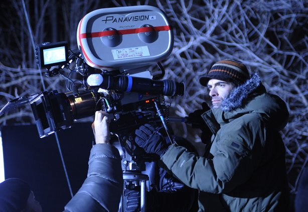 "Filmmaker Vincenzo Natali on the set of his new film ""Splice"""