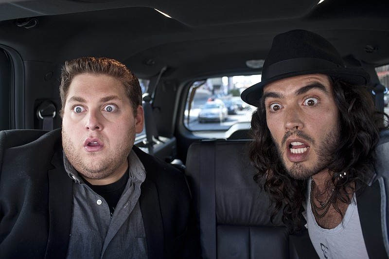 Jonah Hill and Russell Brand star in