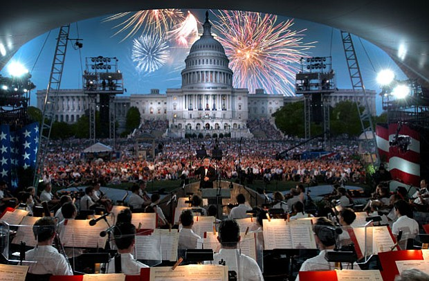 The renowned National Symphony Orchestra performs at the nation's biggest bir...