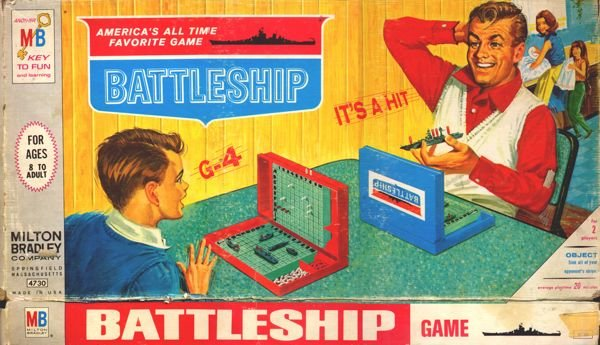 "A classic ""Battleship"" box cover."
