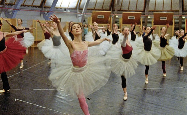 Members of the Paris Opera Ballet rehearse