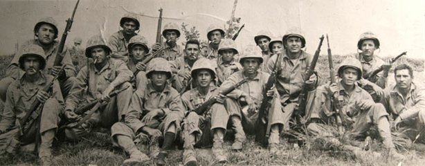 Easy Company (E-Company), 13th Infantry Battalion, Marine Corps Reserve unit activated for the Korean conflict in July of 1950.