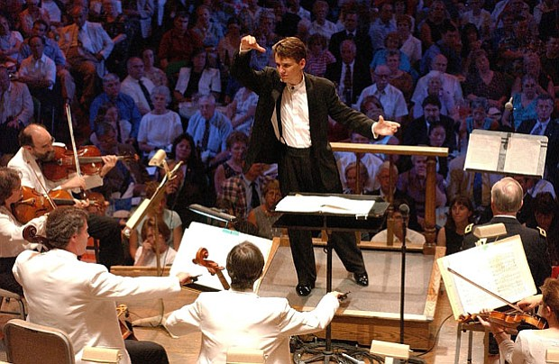 Keith Lockhart, conductor of the Boston Pops, assumed leadership of the orche...