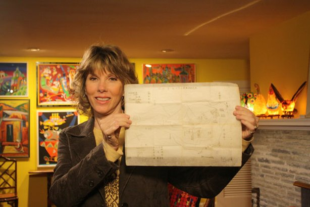 Linda Dinkel says her father found this map on the body of a Japanese soldier...