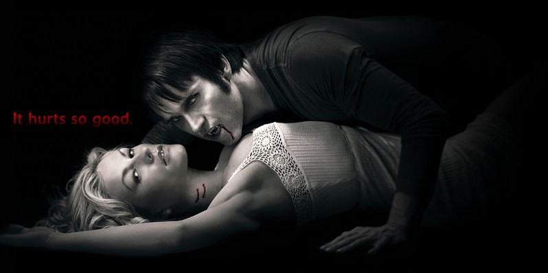 Sookie Stackhouse (Anna Paquin) and Bill Compton (Stephen Moyer) in HBO's