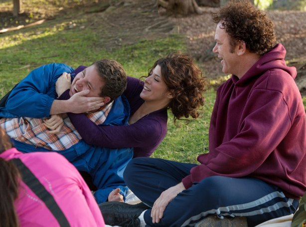 "Jonah Hill, Marisa Tomei, and John C. Reilly form an odd family in ""Cyrus"""