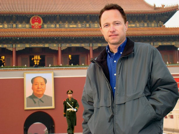 "Filmmaker Roger Nygard in China for his film ""The Nature of Existence"""