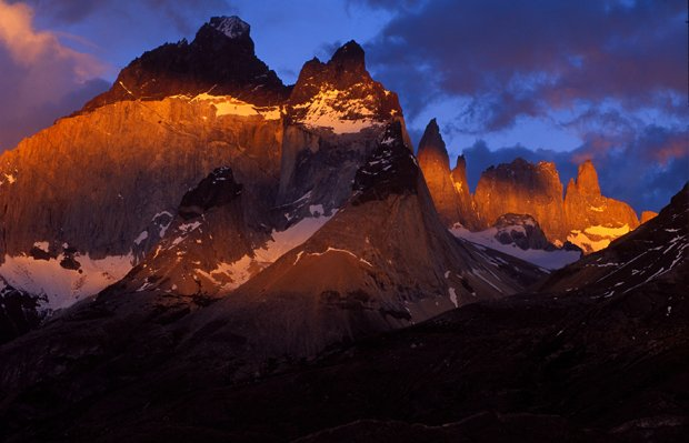 Pictured: Torres del Paine, Chile. When this great spine-like mountain range ...