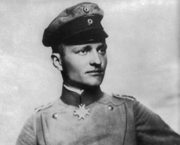 On April 21, 1918, Baron Manfred von Richthofen, a.k.a. the Red Baron (pictur...