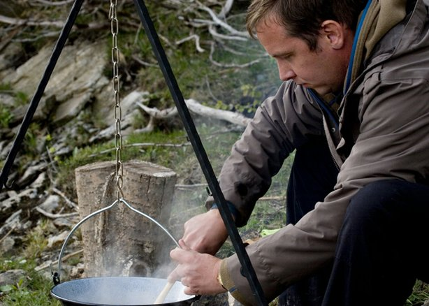 Award-winning TV host, food journalist and cookbook author Andreas Viestad (pictured cooking over a wood fire) treats viewers to an eye-opening voyage through his native Norway, where he creates tantalizing recipes with unusual ingredients against stunning natural backdrops.