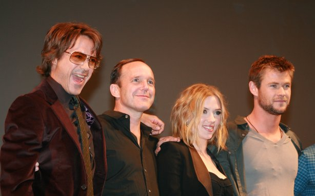 Marvel brought down the house on Saturday with -- among others -- Robert Downey, Jr., Clark Gregg, Scarlett Johansson, and Chris Hemsworth.