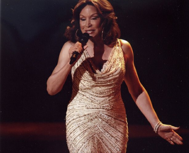 Freda Payne performs on stage at the Bezemes Family Theater at Lindenwood University's J. Scheidegger Center for the Arts in St. Charles, Missouri, on March 17, 2010.