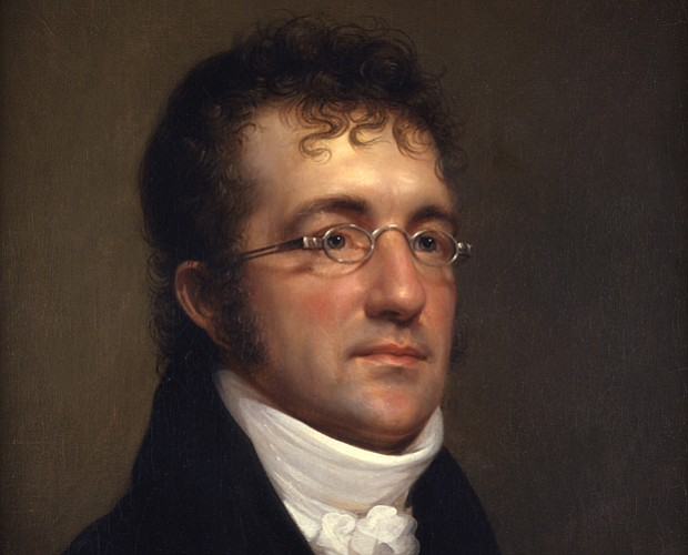 Portrait of Benjamin Henry Latrobe by Rembrandt Peale, c. 1815. The life of B...