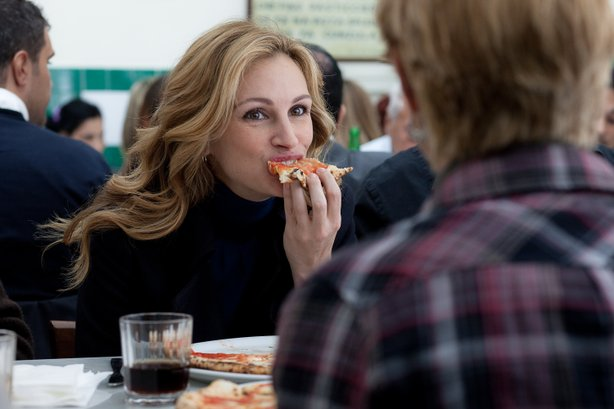 "Julia Roberts engaging in the first part of ""Eat, Pray, Love"""