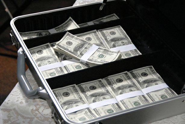 "Briefcase of U.S. currency. ""Frontline: Black Money"" examines the shadowy wor..."