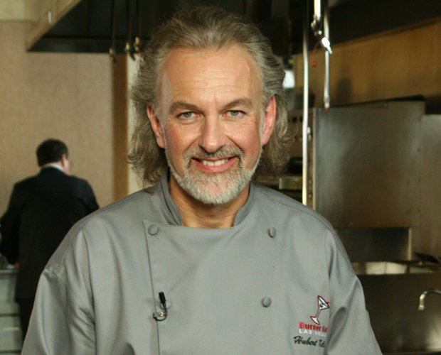Head shot of chef Hubert Keller in the kitchen