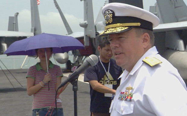 Peter H. Daly served as a one-star rear admiral and commander of Carrier Stri...
