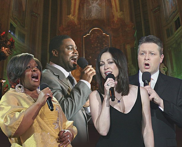 """Hallelujah Broadway"" performers (l-r): Alfreda Burke, Rodrick Dixon, Linda Eder and Anthony Kearns. The concert was filmed in Prague on February 8, 2010"