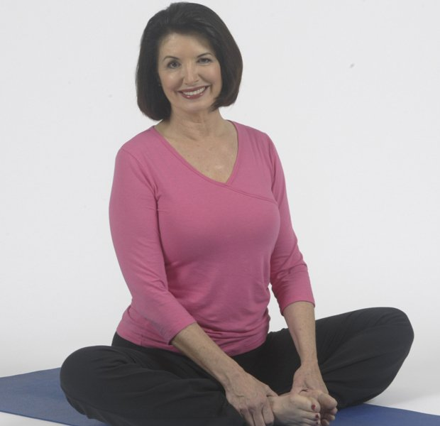 Yoga instructor Peggy Cappy (pictured) demonstrates yoga exercises designed t...