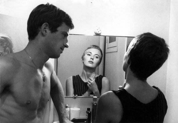 "Jean Paul Belmondo and Jean Seberg in ""Breathless."""