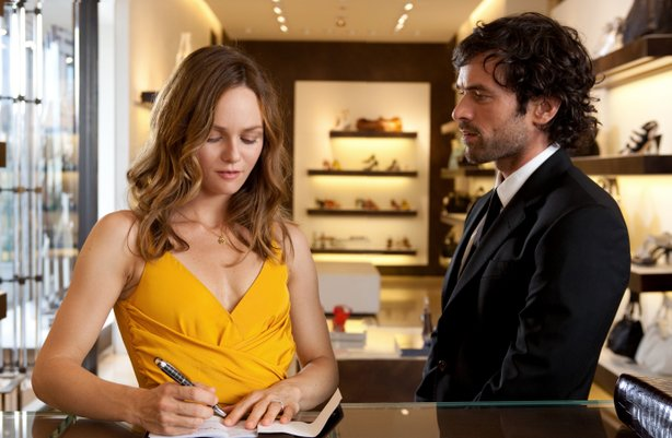"Vanessa Paradis and Roman Duris in ""Heartbreaker."""