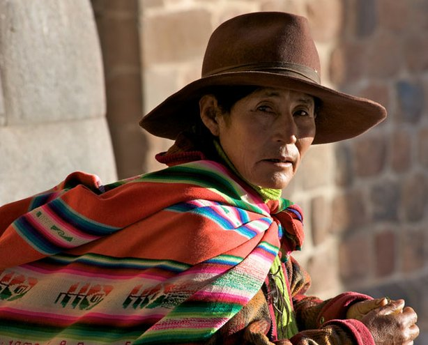 """Latin woman sitting. """"When Worlds Collide"""" examines how the New World radical..."""