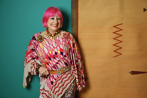 British fashion and textile designer Zandra Rhodes. A retrospective of her wo...