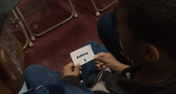 "Waiting for his number to be drawn at a school lottery in ""Waiting for Superman."""