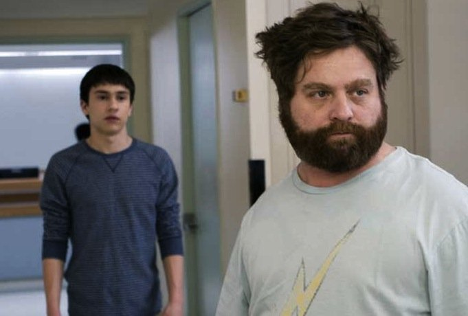 Keir Gilchrist and Zach Galifianakis star in