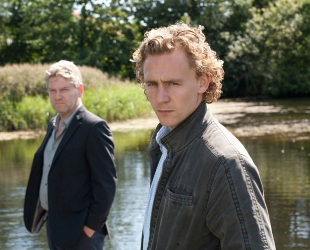 Kenneth Branagh (left) as Kurt Wallander and Tom Hiddleston as Martinsson in ...