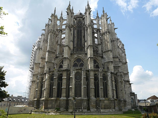 Beauvais Cathedral, located in Beauvais, France. Carved from a hundred millio...