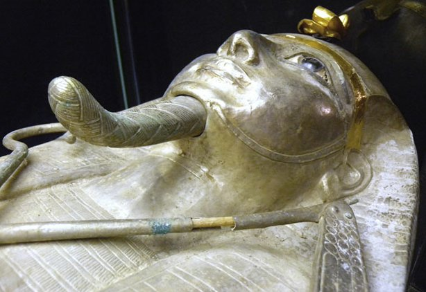 Pharaoh Psusennes' silver coffin