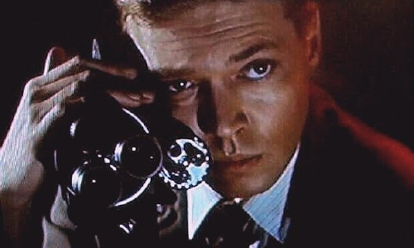 "Carl Boehm as a photographer who wants to capture fear on film in ""Peeping Tom."""