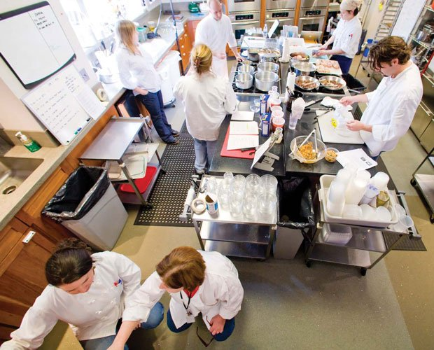 Photo of the test kitchen team exploring delicious recipes and ingredients, n...