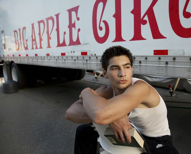 Acrobat Christian Atayde Stoinev from the legendary Big Apple Circus. Stoinev...