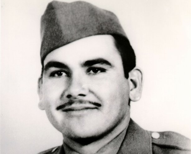 Historical photo of Felix Longoria. Private Felix Longoria fought and died while fighting the Japanese during World War II.