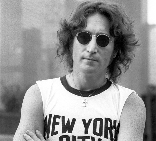 John Lennon on rooftop in New York City, August, 29 1974.