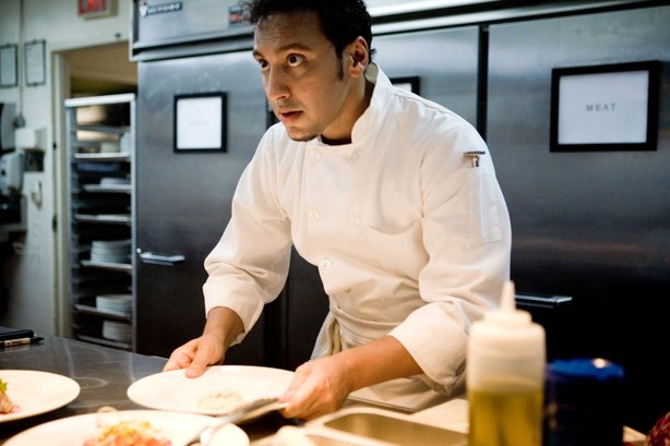 "Aasif Mandvi is a sous-chef with dreams of owning his own restaurant in ""Toda..."