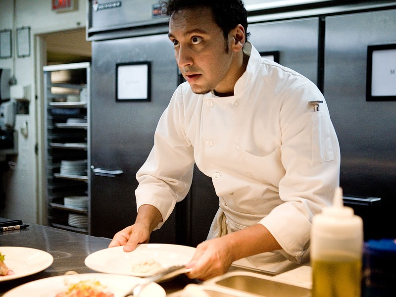 Aasif Mandvi is a sous-chef with dreams of owning his own restaurant in
