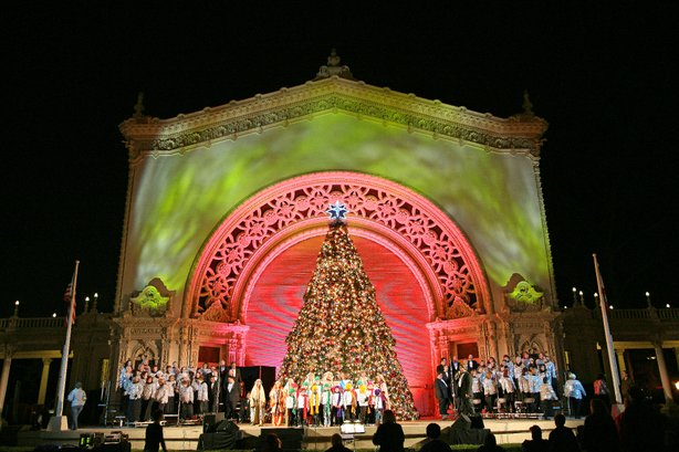The Christmas Story Tree at Balboa Park's December Nights!