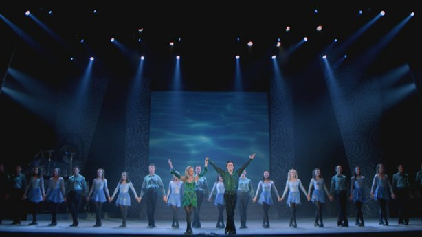 "Performance photo of the cast of ""Riverdance"" live from the Beijing Exhibitio..."