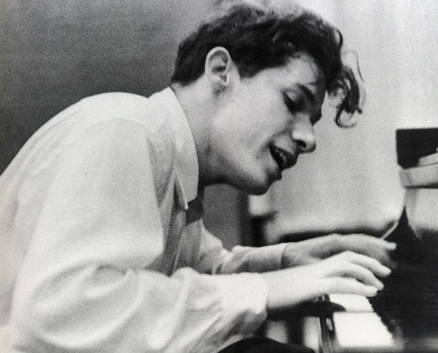 Glenn Gould at his debut recording of Bach's