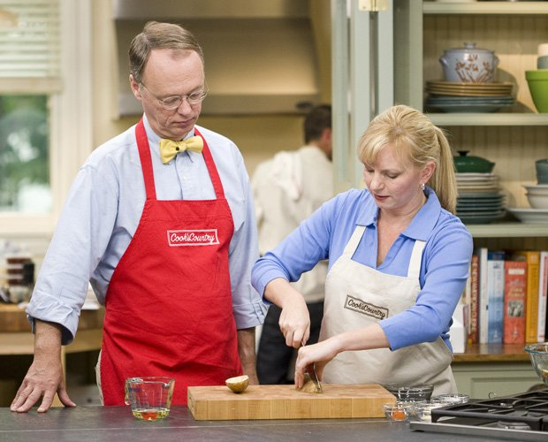 Christopher Kimball And Bridget Lancaster Work On Family Friendly Recipes In