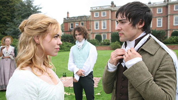 Promotional photo of Billie Piper, Joseph Beattie, Blake Ritson from